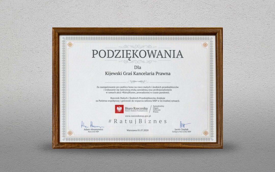 Nagroda Rzecznika MŚP 2020