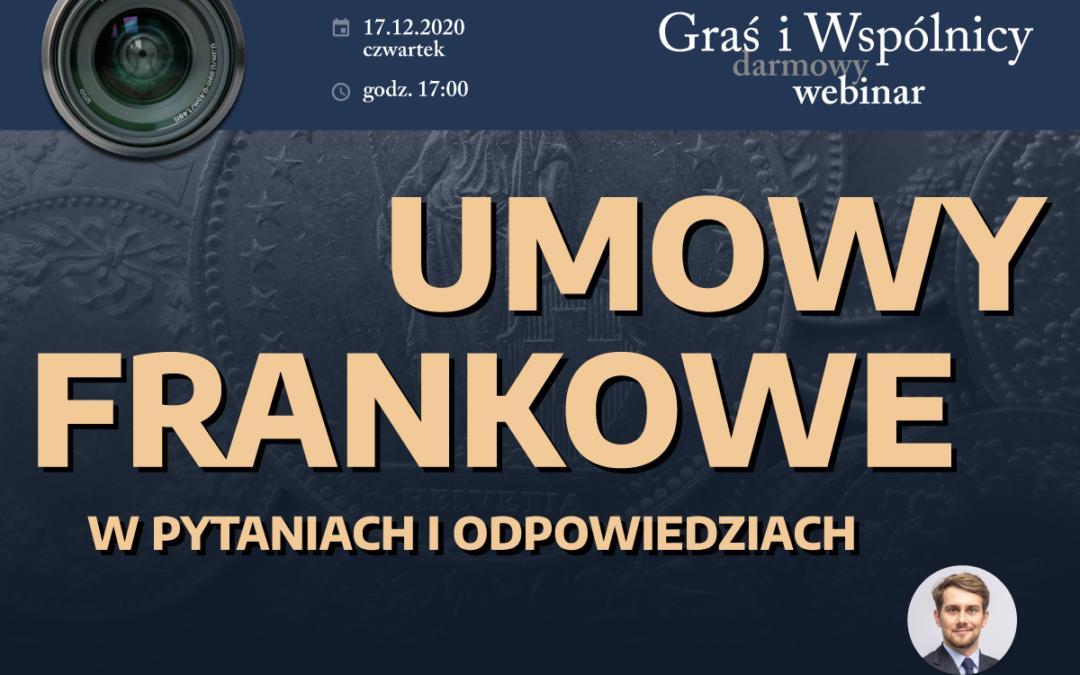Webinar – Q&A – Umowy frankowe