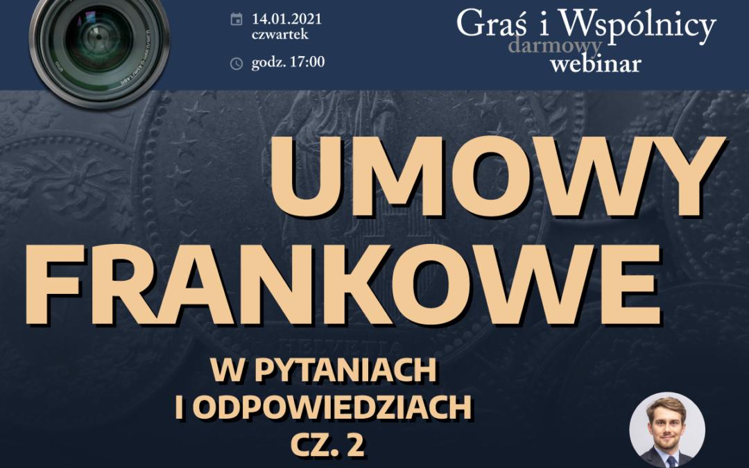 Webinar – Q&A – Umowy frankowe cz. 2