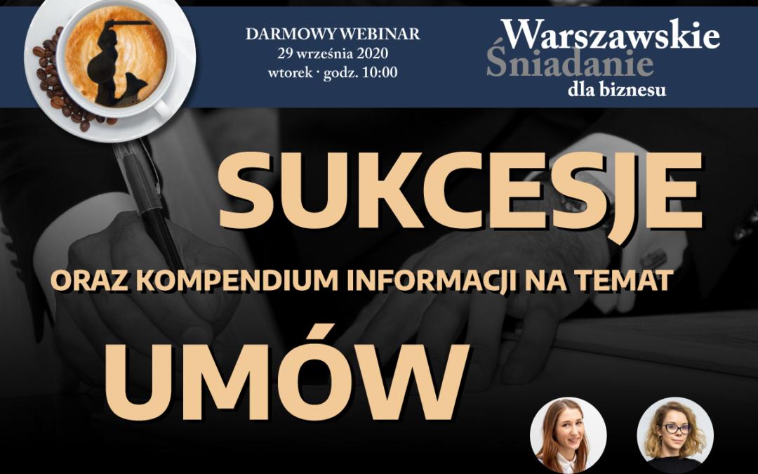 Sukcesje oraz kompendium informacji na temat umów